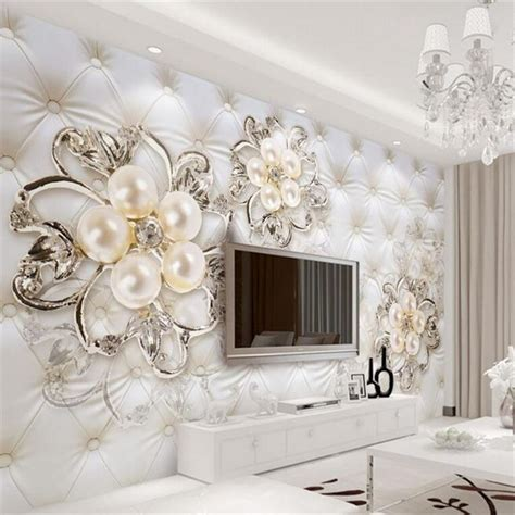 pearl home decor 3d wall papers home decor imitation leather european soft