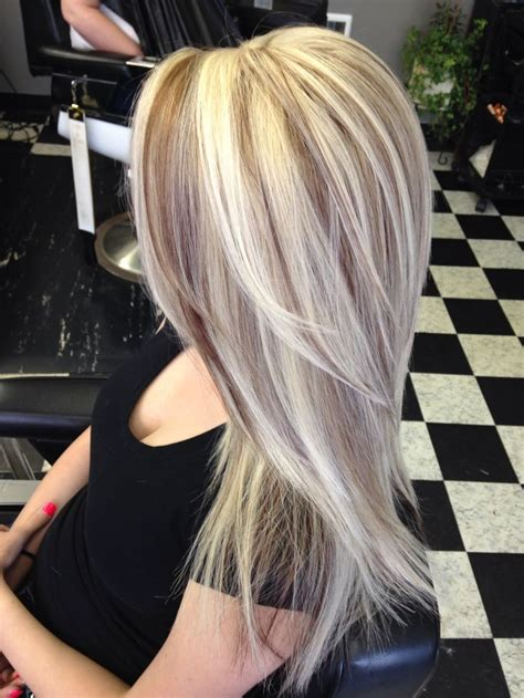 gray dark dark low lights foils beautiful long hair with blonde highlights and brown
