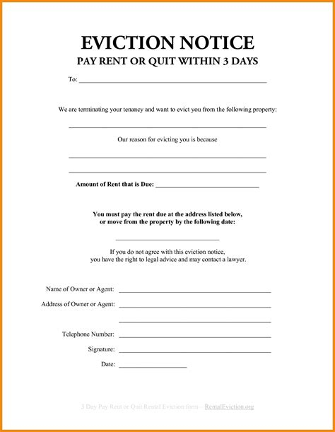 printable free eviction notice forms 5 printable eviction notice cashier resume