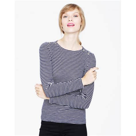 boat neck tops uk joules women s lydia boat neck top opal stripe or french