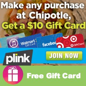 Purchase Chipotle Gift Card - free 10 gift card with any chipotle purchase