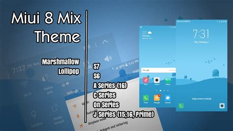 miui themes translated miui 8 mix samsung galaxy theme youtube
