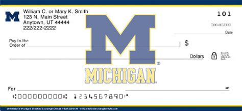 Mi Background Check Michigan Checks Michigan Ncaa Logo Personal Check Designs Checkspressions
