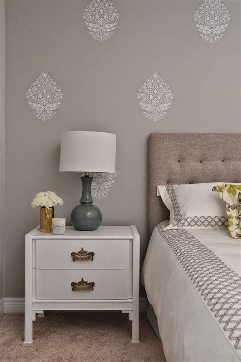 bedroom stencils indian paisley damask stencil bedroom feature walls