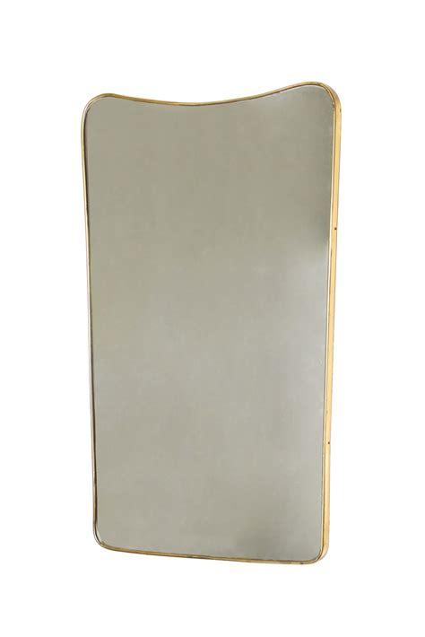 ste con cornice specchiera con cornice in ottone prod italia 1950 ca