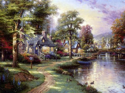 Famous Paintings Of Thomas Kinkade An American Painter