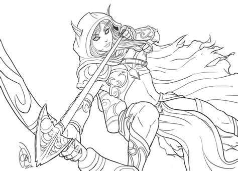 how to draw sylvanas sylvanas windrunner of warcraft iii by alvinsanity on
