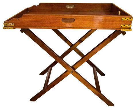Folding Butlers Tray Table Antique Butler S Tray Table Modern Tv Trays New York By Montage Modern Home