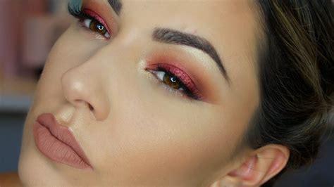 eyeshadow tutorial red warm red eye makeup tutorial for hooded eyes umakeup