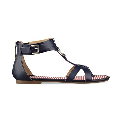 navy sandals hilfiger gladiator sandals in blue navy