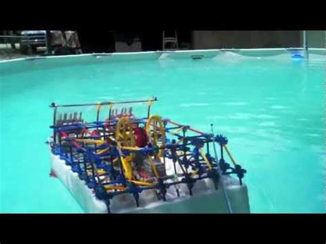 how to make a knex boat knex paddle boat youtube