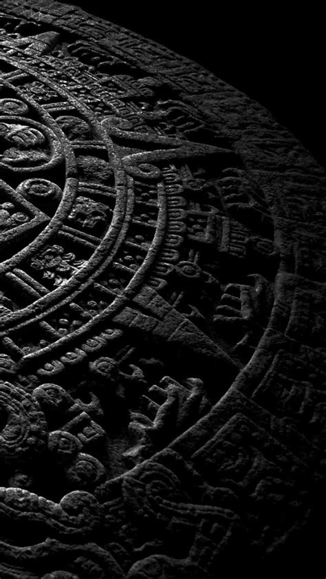 Mayan Calendar Stone - The iPhone Wallpapers