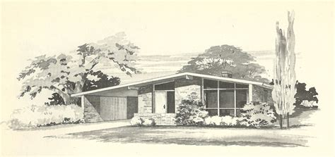 vintage house plans 1960s more mid century modern homes