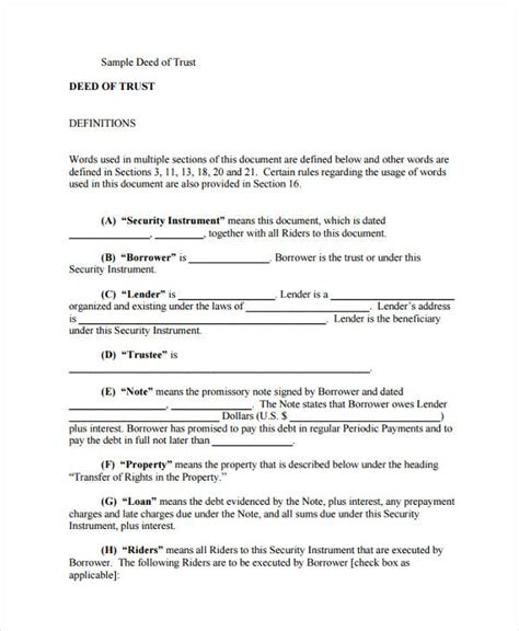 trust deed template uk 28 sle deed forms