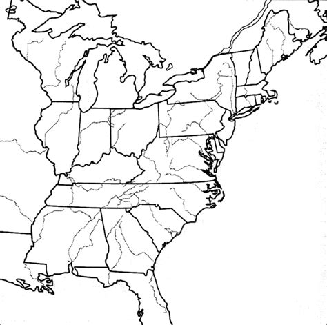 blank us map eastern states early republic best of history web