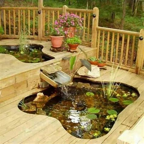 deck pond back yards and landscaping pinterest