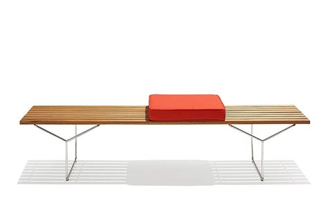 bench with cushion seat bertoia bench with 3 seat cushions hivemodern com