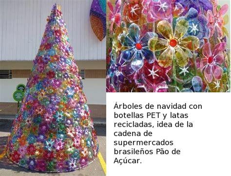 ideas de como hacer arbol navide241o con latas recicladas 193 rbol de navidad con bases de botellas pet ecobrico