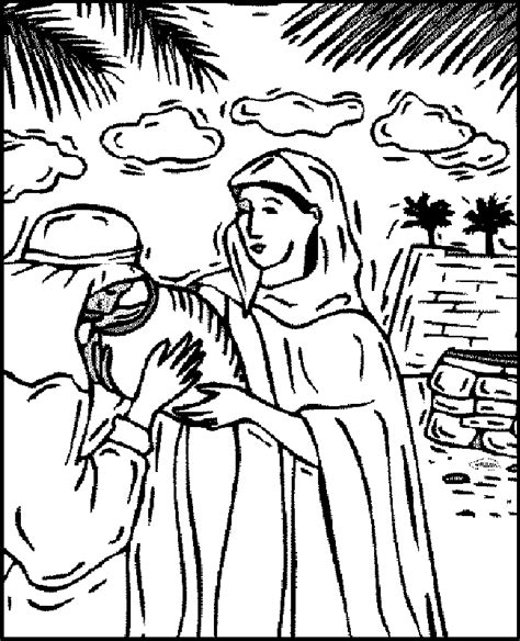 free coloring pages of wife for isaac