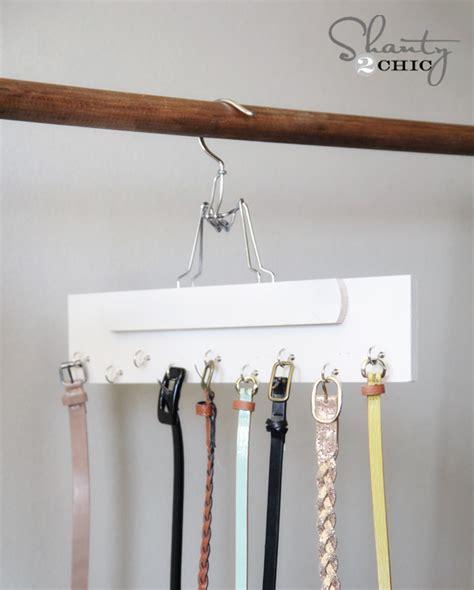 Hanger Diy - closet organization diy belt hanger shanty 2 chic