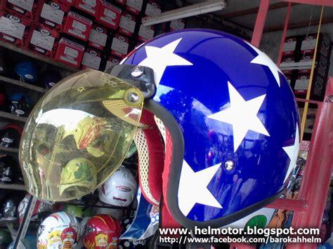 Ostrich Biru Tua Bop 14 helm vespa bogo bintang helm vespa