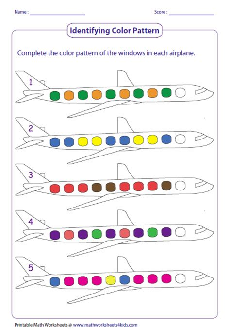 repeating patterns with 2 colours 4 worksheet activities growing patterns worksheets for first grade math