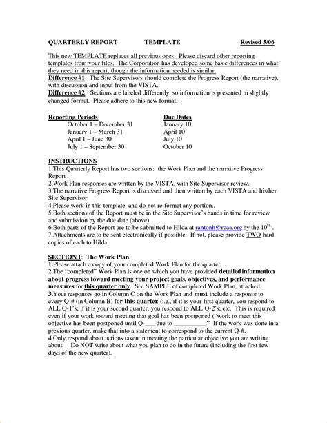 business quarterly report template 8 quarterly report template procedure template sle