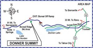 donner pass california map donner summit