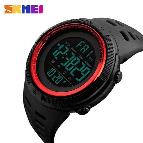 Jam Tangan Pria Jam Digital skmei jam tangan digital pria dg1251 black brown