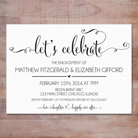 engagement invite templates engagement invitation we re engaged invitation