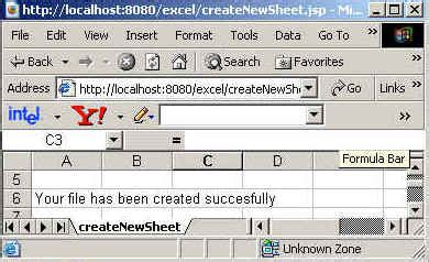 excel jsp tutorial how to create new excel sheet using jsp