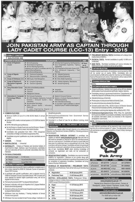 ispr pakistan jobs 2015 pak army latest for security supervisor pakistan army jobs as captain 2018 through lady cadet