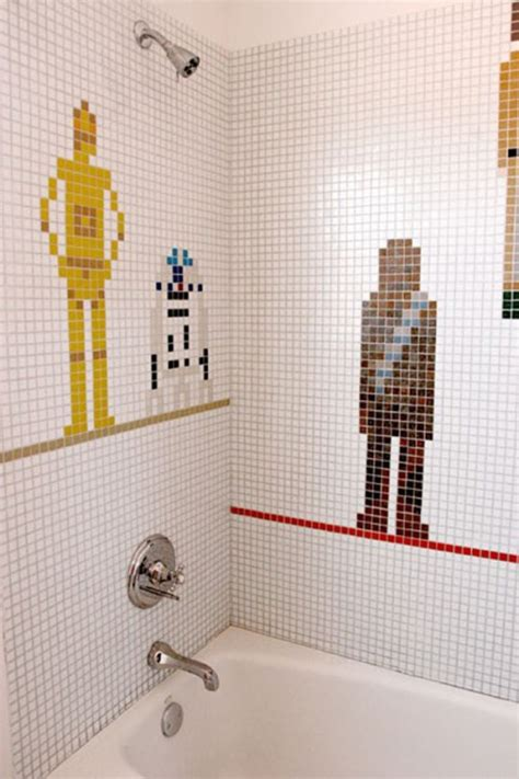 children s bathroom tiles star wars bathroom tiles for a kids bathroom shelterness