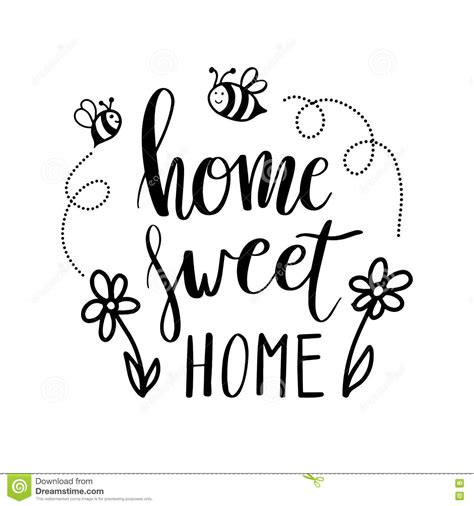 home sweet home decoration lettering typography poster calligraphic quote home