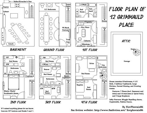 Grimmauld Place Floor Plan | floor plan of 12 grimmauld place mischief managed