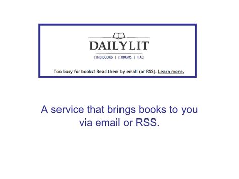Daily Lit Books To Your Inbox by Daily Lit