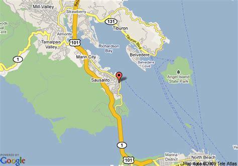 map of sausalito area map of the gables inn sausalito sausalito