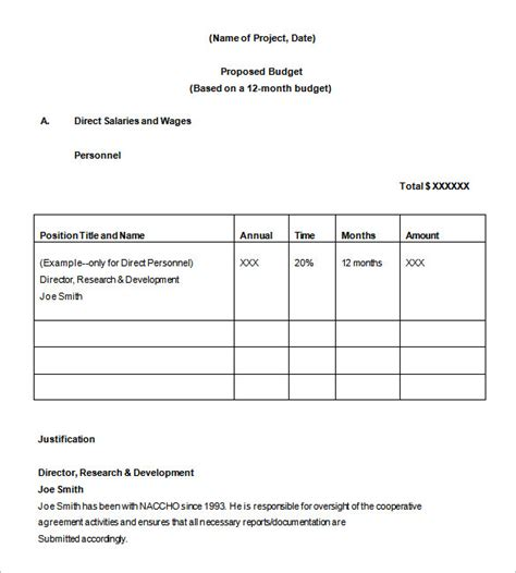 proposed budget template budget templates 11 free sle exle