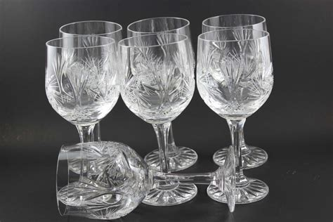 Vintage Waterford Crystal Vases Bohemia Crystal Vintage Wine Glasses 7
