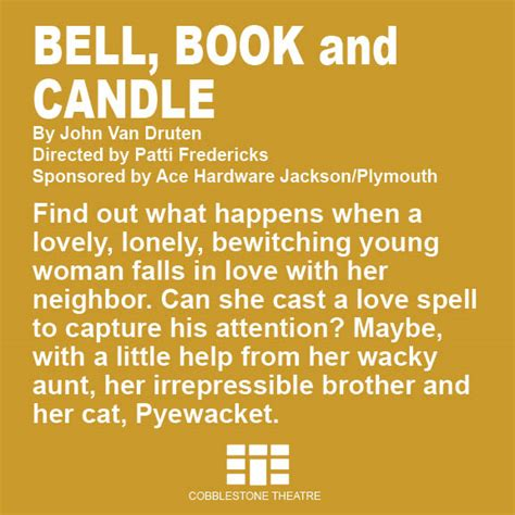 Bell Book And Candle By Druten by Bell Book And Candle Volcano Theatre Company