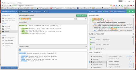 javascript pattern tester javascript regexp pattern test
