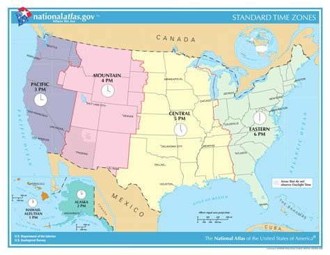 usa time zone with map time in the united states