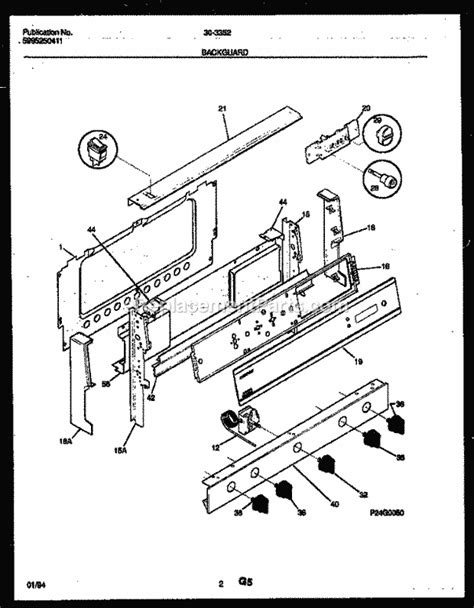 tappan cooktop replacement parts tappan 30 3352 00 03 parts list and diagram
