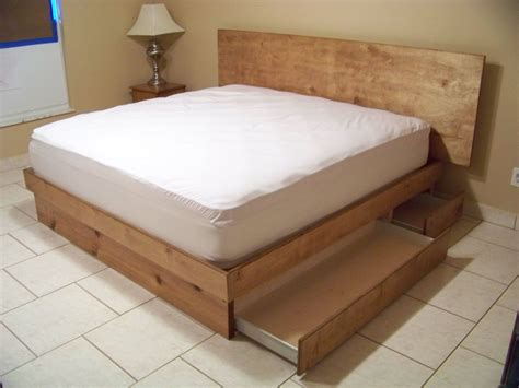 storage platform bed handmade storage platform bed by scott design custommade com