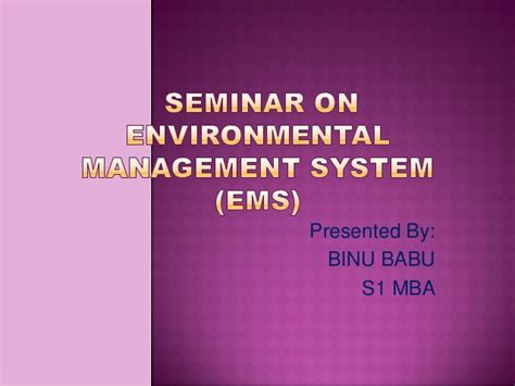 Mba Environmental Management by Environmental Management System