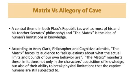Analogy Of The Cave Essay by The Allegory Of The Cave Comparison Essay Free Allegory Of The Cave Essays And Papers