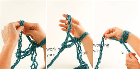 arm knitting how to cast on arm knitting how to photo tutorial part 1 on