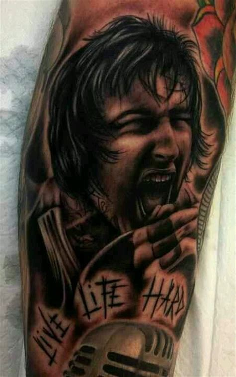 mitch lucker tattoos mitch lucker portrait
