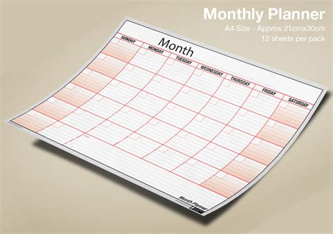 month planner wall desk monthly planner pack