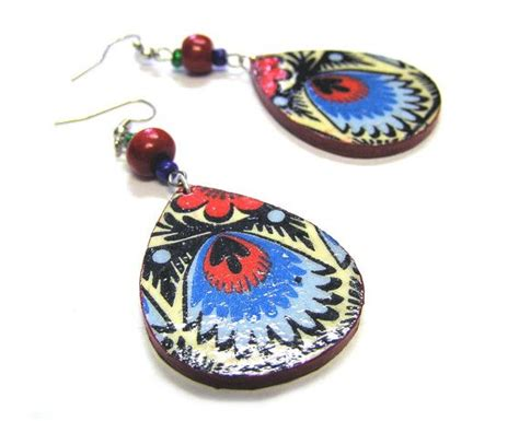 Decoupage Jewelry - 27 best images about diy decoupage earrings on